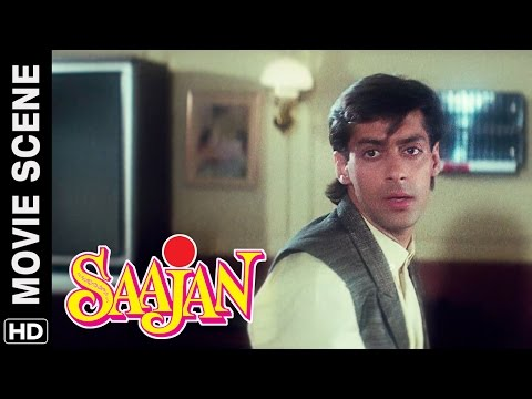Salman waits for Madhuri on a date | Salman Khan, Madhuri Dixit | Saajan | Movie Scene