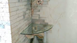 видео Этажерки для ванной комнаты - угловые, узкие, с ящиками и стеллажи