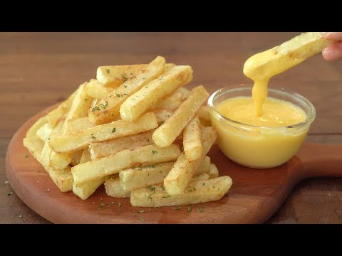 [SUB] French Fries and Cheese Sauce :: How to Make Crispy French Fries - 매일맛나 delicious day
