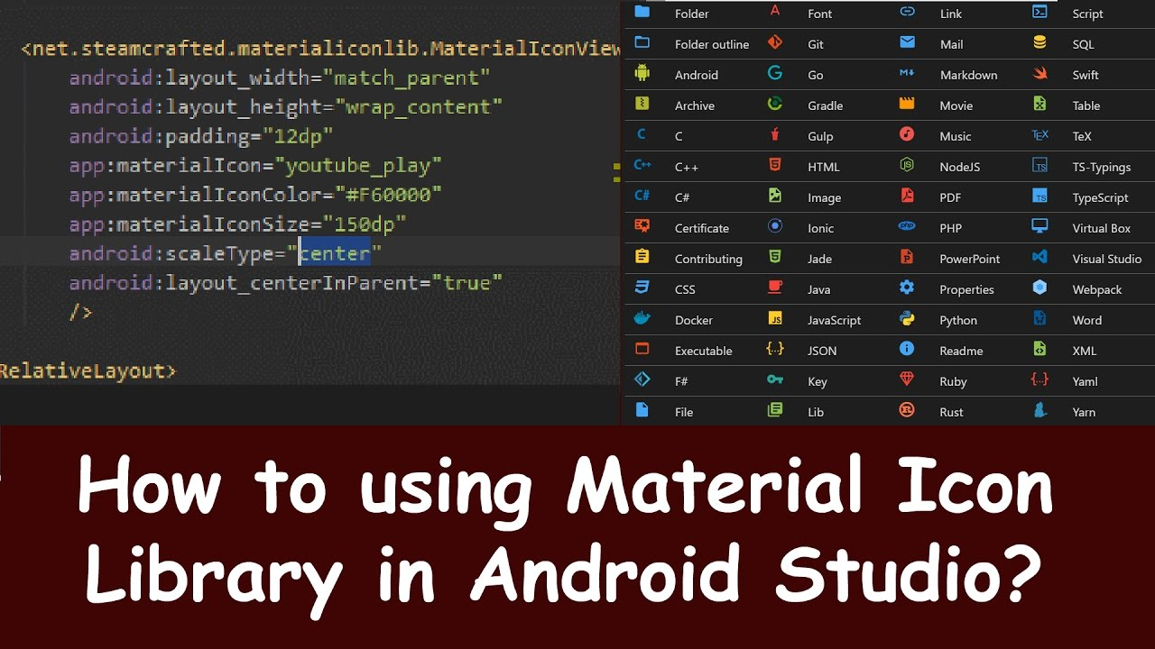 how to add icon android studio
