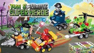 Car Wrecking Actions Plants vs Zombies PVZ Junk Yard Battle Peashooter Chili Pepper Zombies Lego DIY thumbnail