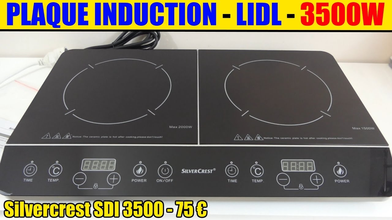 plaque induction lidl silvercrest 2 foyers double induction hob doppel induktionskochplatte