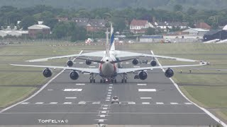 Boeing 747-8 vs Antonov An-124 Farnborough airshow