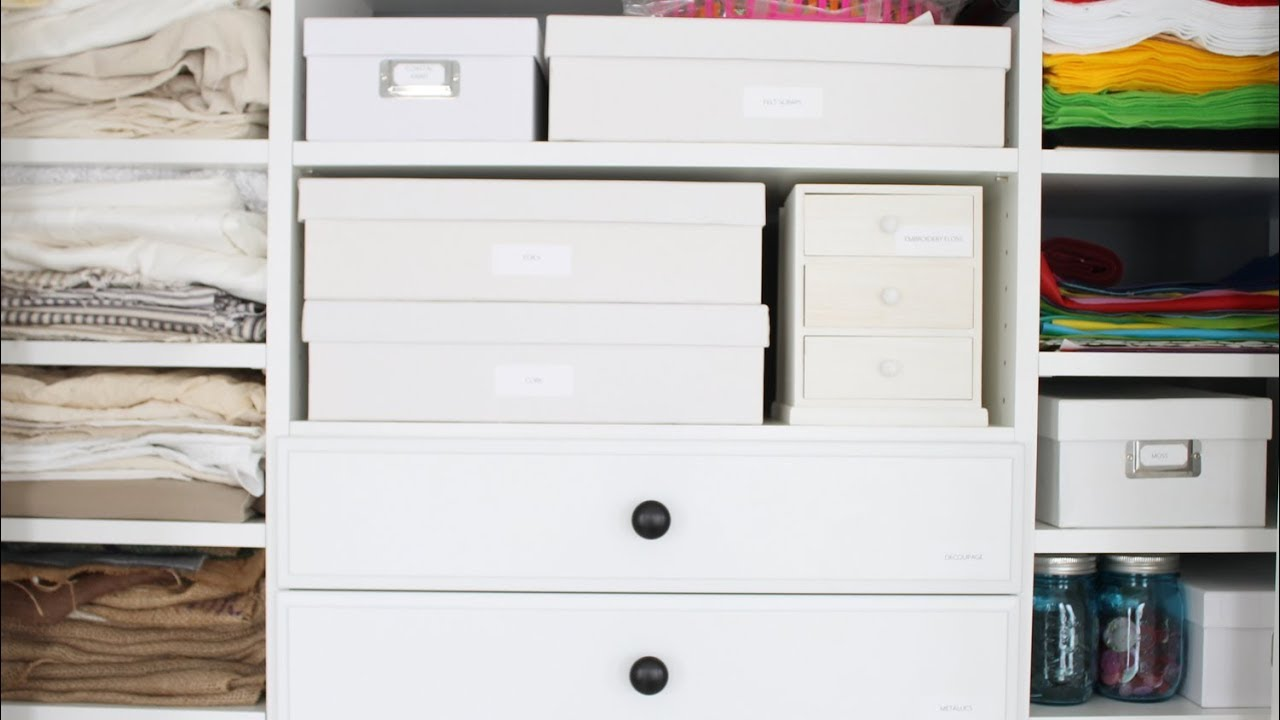 Craft Room Storage   Ideas To Store Your Craft Supplies!