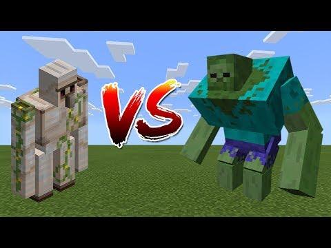 Iron Golem Vs Mutant Zombie - Minecraft