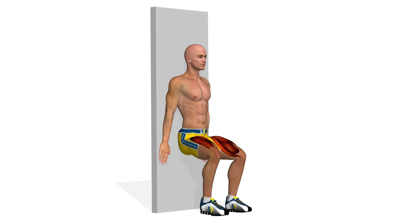 Упражнения для похудения ног: Wall Sit