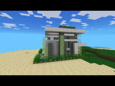 Keralis 13x13 Modern House in Minecraft Pocket Edition YouTube