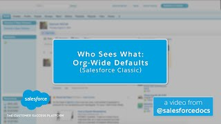 Who Sees What: Org-Wide Defaults (Salesforce Classic)