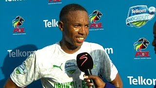 Telkom Knockout | SF | Golden Arrows v Mamelodi Sundowns | Post-match interview with Andile Jali