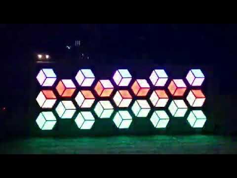Pixel Led Küp şeklinde Sahne Efekt Aydınlatma Uygulama Kıbrıs Mehmet Teke