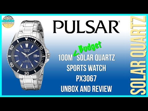 Best Budget Solar! | Pulsar 100m Solar Quartz Sports Watch PX3067 Unbox And Review