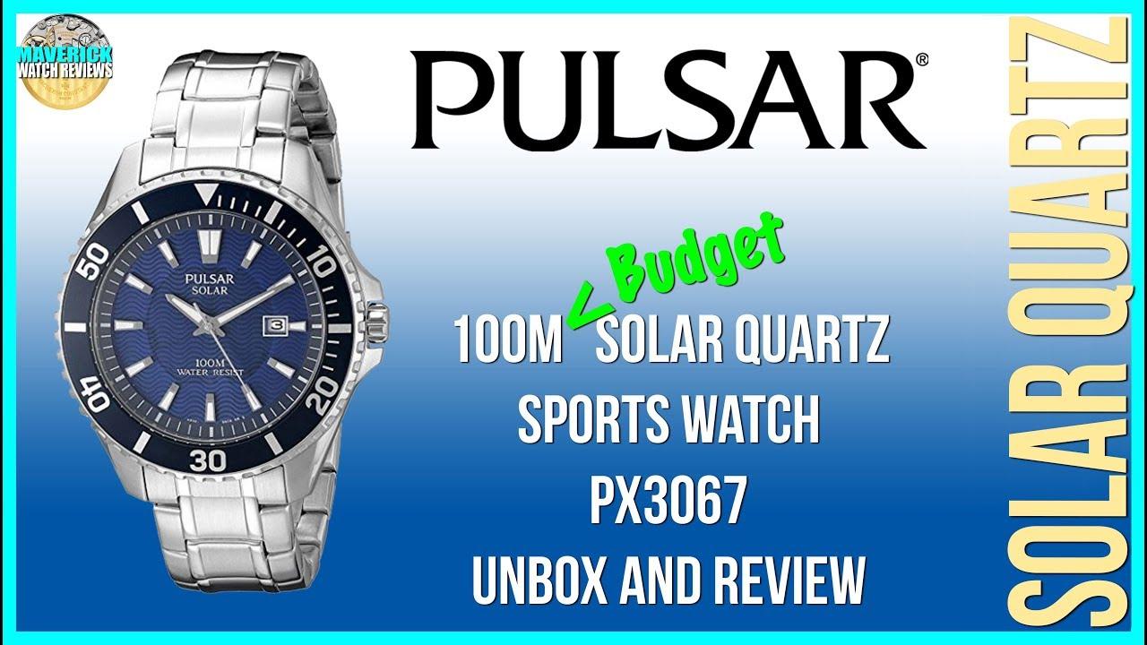 f14c3a863 Best Budget Solar!   Pulsar 100m Solar Quartz Sports Watch PX3067 ...