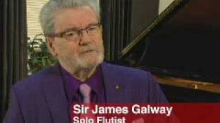 Sir James Galway talks about the New York Philharmonic