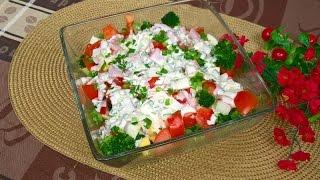 Sałatka z Brokułem, Jajkiem i Pomidorami | Smaczna i Syta
