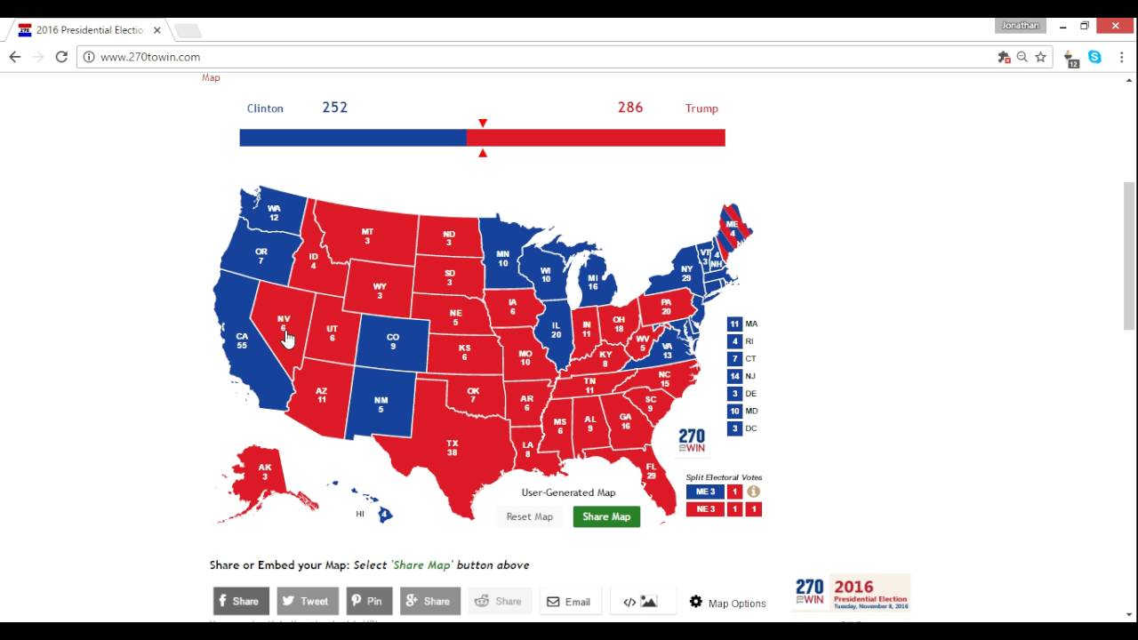 Electoral Map Prediction Trump Vs Clinton Weeks - 2016 election us map