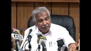Chief Minister Oommen Chandy talking about Pariyaram Medical College