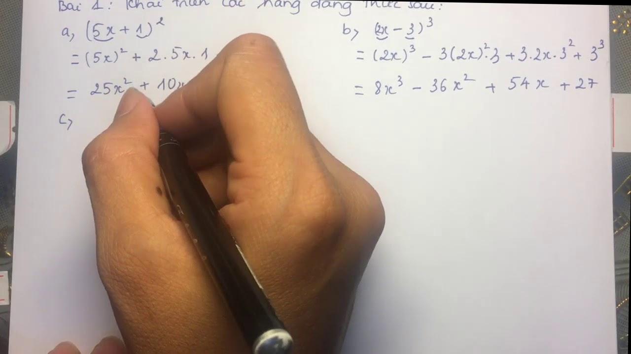 Toán lớp 8 – Ôn luyện những hằng đẳng thức đáng nhớ