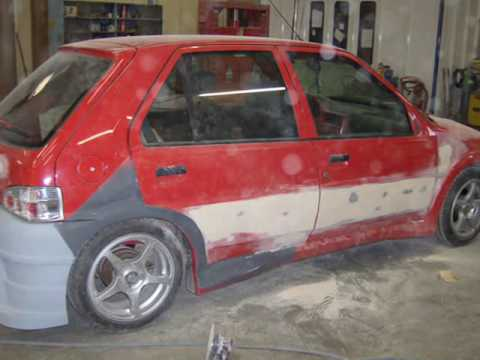 peugeot 106 tuning en prepa de chewbee youtube. Black Bedroom Furniture Sets. Home Design Ideas