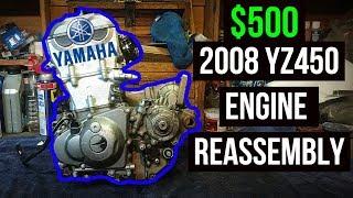 $500 Yamaha YZ450 Dirt Bike Engine Reassembly | Top End Rebuild #2