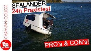 Test 3: Sealander Schwiṁmcaravan zu Wasser - Alltags und Praxistest