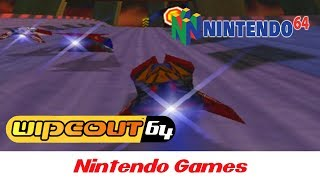 Wipeout 64 (All Tracks Gameplay 60 FPS) Nintendo 64