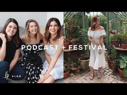 LAST PODCAST EPISODE & FOOD FESTIVAL FUN | Lily Pebbles Vlog