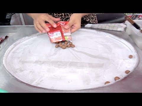 ICE CREAM ROLLS | Chocolate Balls KIT KAT Bites Ice Cream / Ice Cream Rolls with Kiwifruit / Oreo