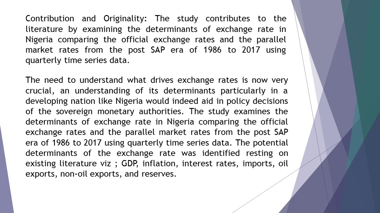 Exchange Rate In Nigeria A Comparison