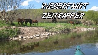 Weser Frühlingsfahrt, HMü bis Gieselwerder im Zeitraffer.