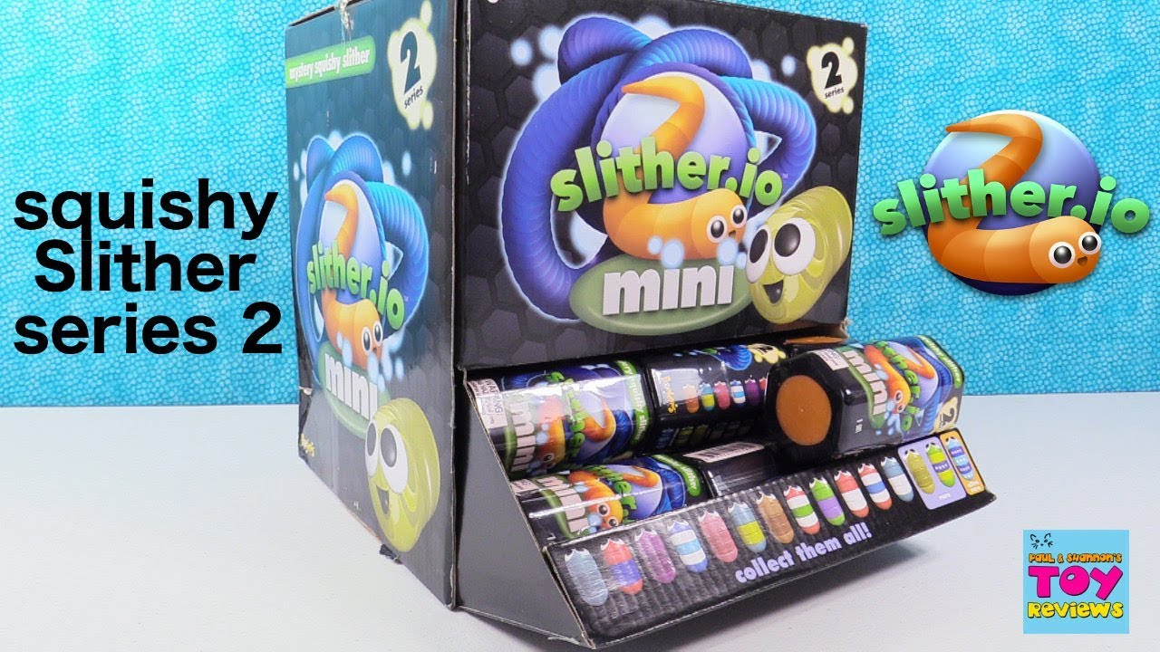 SLITHER IO SERIES 5 SQUISHY SLITHER /& DLC CODE INSIDE 1 RANDOM BLIND CAPSULE