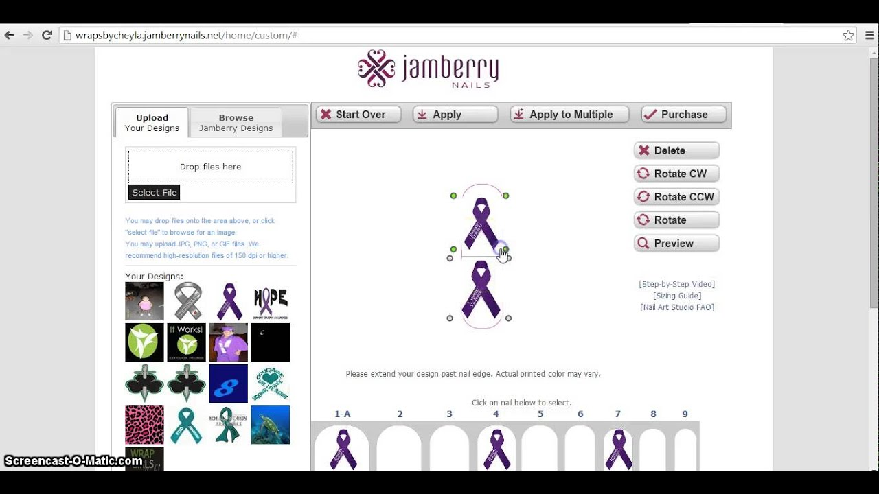How to use Jamberry Nail Art Studio| Design your own Nail ...