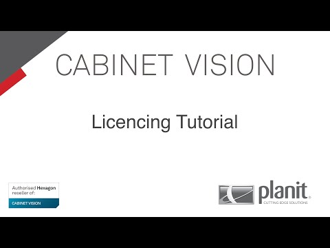 CABINET VISION Tutorial (Basic 8) - How to Install your Licence