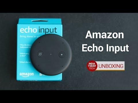 Amazon Echo Input Unboxing and Setup