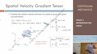 Continuum Mechanics - Ch 2 - Lecture 16 - Strain Rate