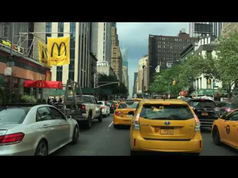 Driving Downtown Americas Avenue New York City NY USA