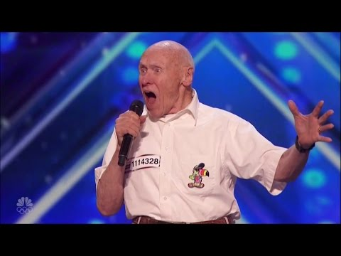 AGT 82yo war veteran sings Let the Boddies Hit the Floor  Drowning Pool