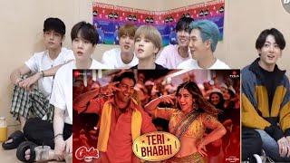 Koreans React to Teri Bhabhi - Coolie No.1| Varun Dhawan, Sara Ali  | Javed - Mohsin Ft. Dev Neha