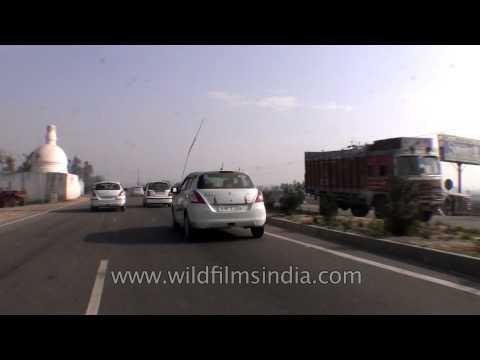 Driving towards Meerut