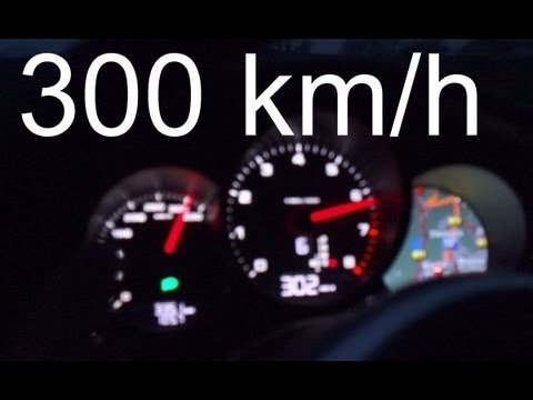Porsche Panamera S: top speed (300 km/h)