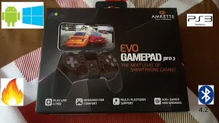 Amkette Evo Gamepad Pro 3 Unboxing Review & How to Use On Android & PC via bluetooth