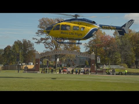 Metro Life Flight Helicopter Visits Kent State  YouTube