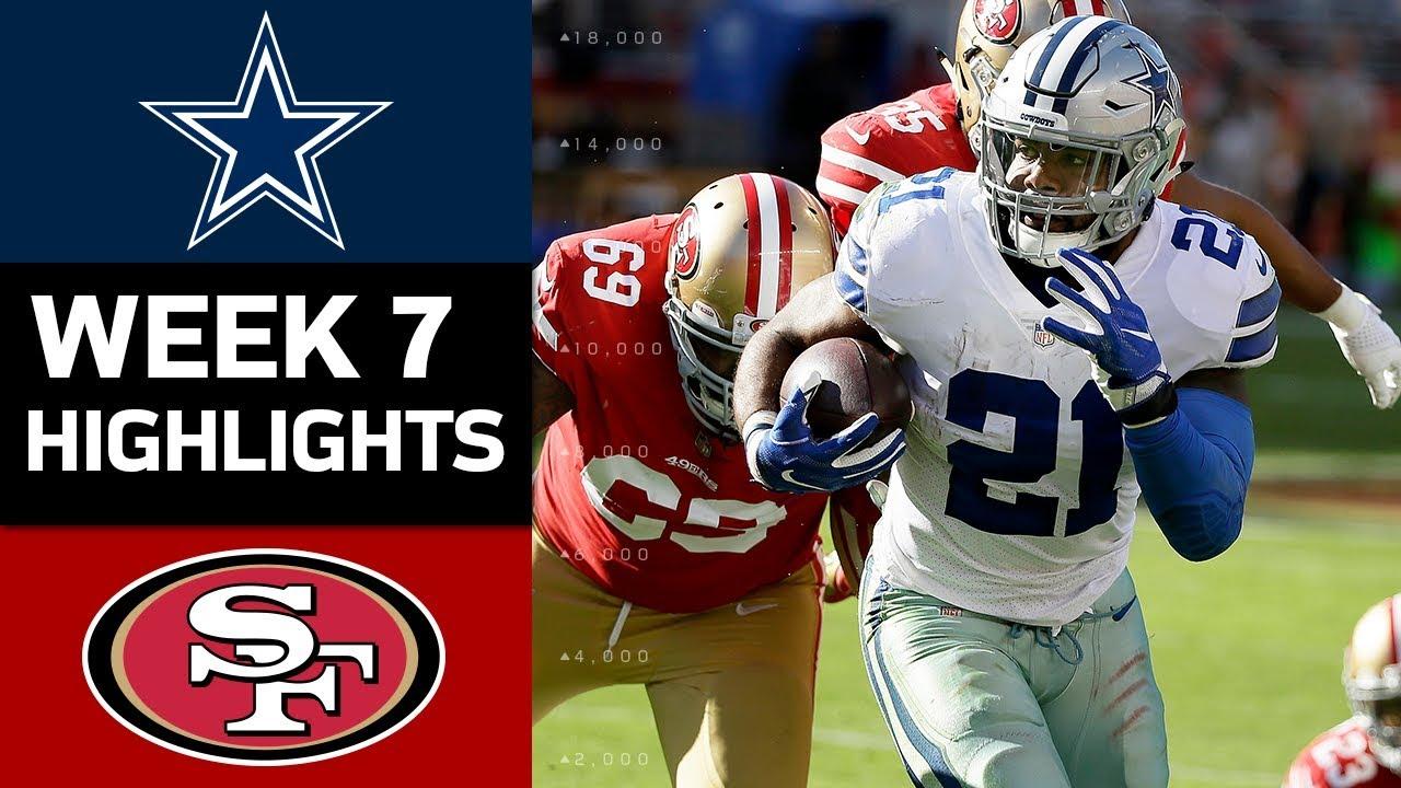 Cowboys vs 49ers nfl week 7 game highlights youtube 49ers nfl week 7 game highlights voltagebd Gallery