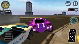Chase Gangster Car: Police Car Driver Simulator 3D Android Gameplay FHD