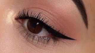 ايلاينر/4 طرق لتعلم ايلاينر كالمحترفين بثواني  للمبتدئات/لتكبير لعيون /easy eyeliner tutorial
