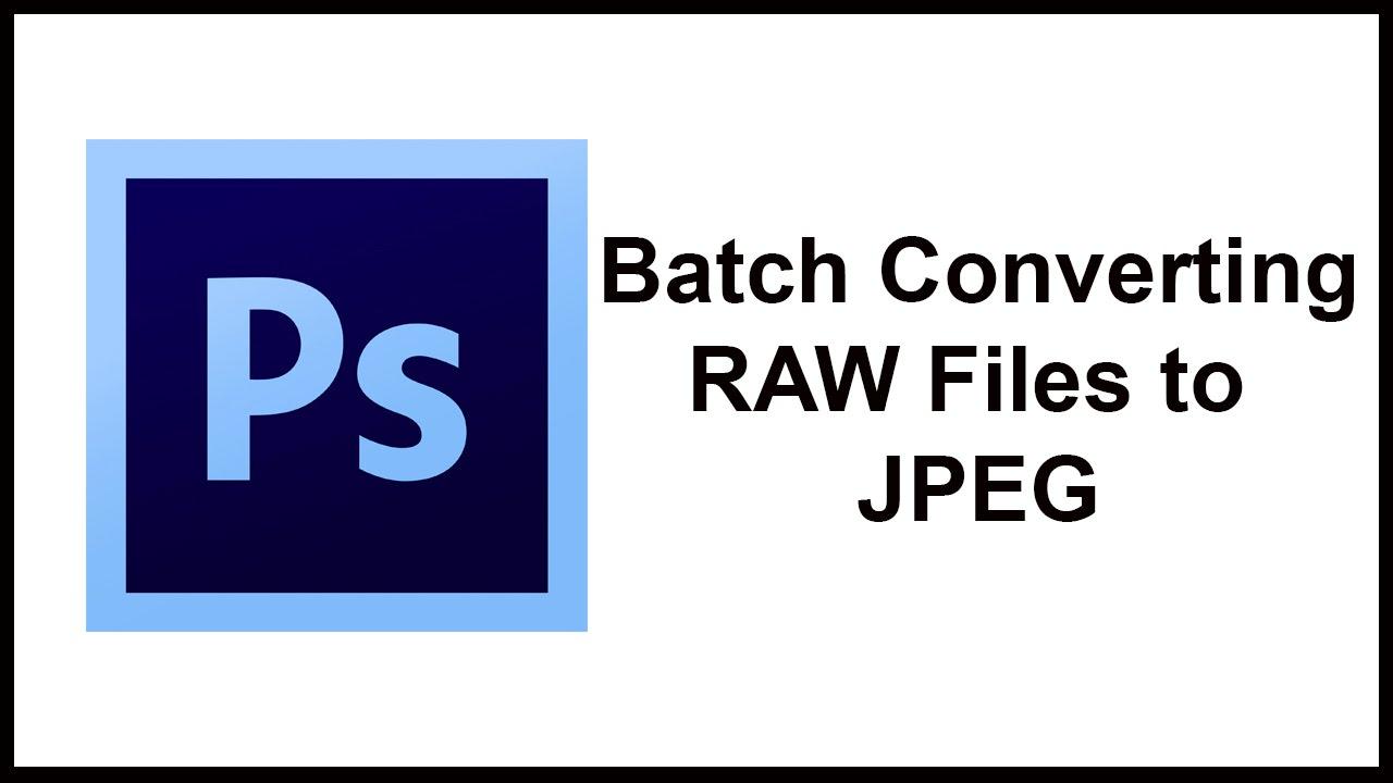 convert raw to jpeg bridge