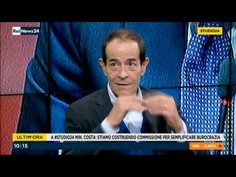 Sergio Costa - Ministro dell'ambiente a Rai News Studio 24 3/10/2018