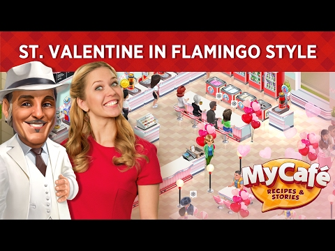 My Cafe: St. Valentine's in Flamingo Style