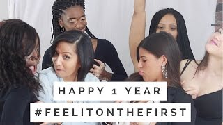 How my girls react when asked to feel their breasts on camera | Happy 1 Year #feelitonthefirst