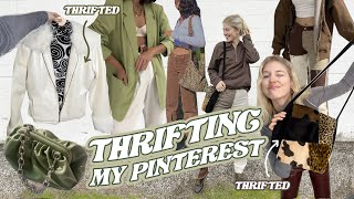 thrifting for things on my Pinterest PART 2 \\ thrift with me + HUGE THRIFT HAUL \\ Value Village