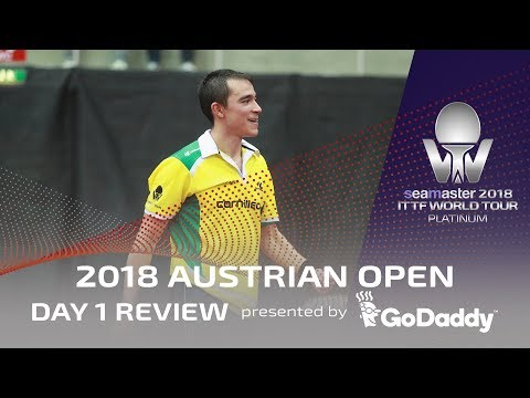 Day 1 Review presented by GoDaddy | 2018  ITTF Austrian Open